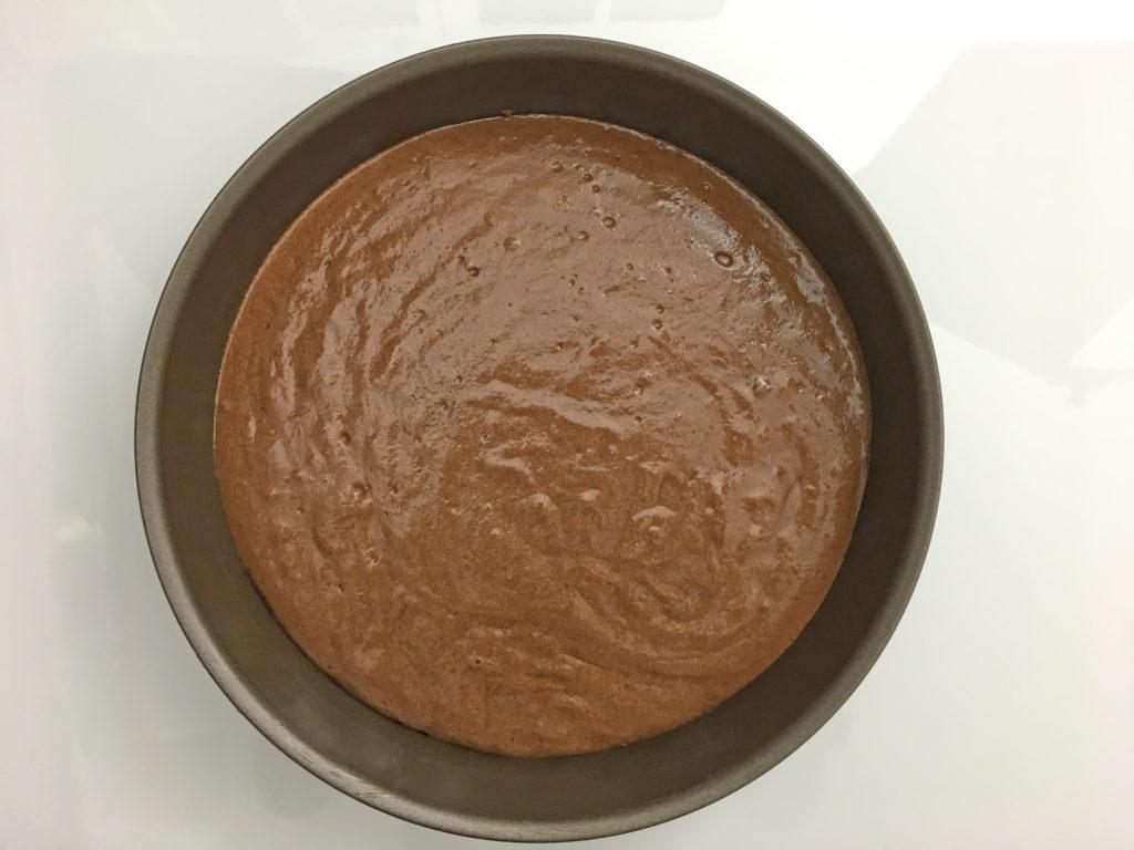 Le gâteau au chocolat prêt à être cuit par adam brunet chef à domicile sur le Bassin d'Arcachon et la région bordelaise.