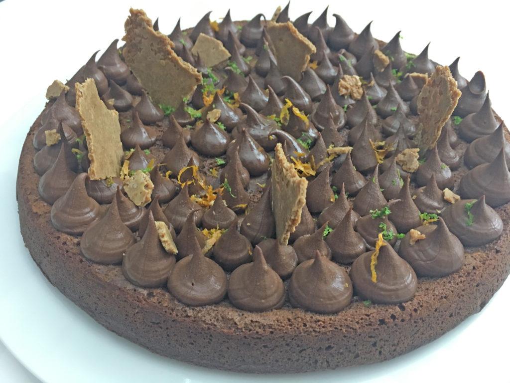 Le gâteau au chocolat fini par adam brunet chef à domicile sur le Bassin d'Arcachon et la région bordelaise.